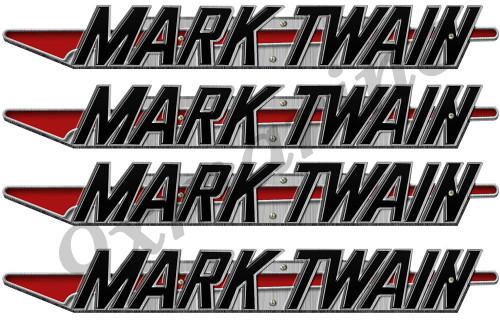 Mark Twain Boat Company Remastered 4 pc Sticker Set