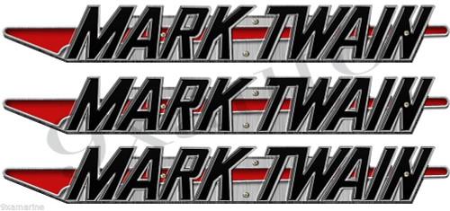 """Mark Twain Boat Company Remastered 3 pc 16"""" Sticker Set"""