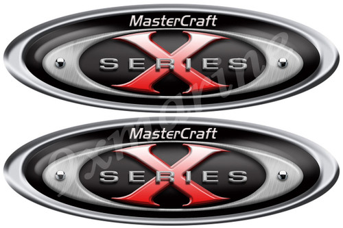 "Mastercraft X Series Oval Sticker 10"" long X 3.5"""