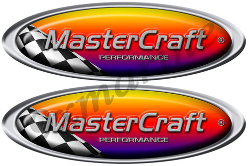Mastercraft Racing Stickers. Remastered stickers for boat restoration project