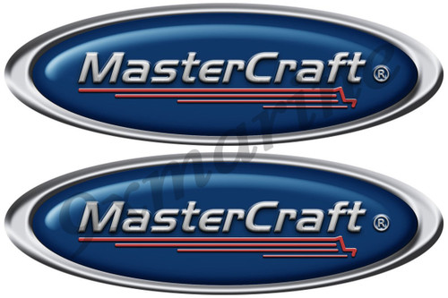 "Master Craft Two Oval Stickers 10""X3.5"" each"