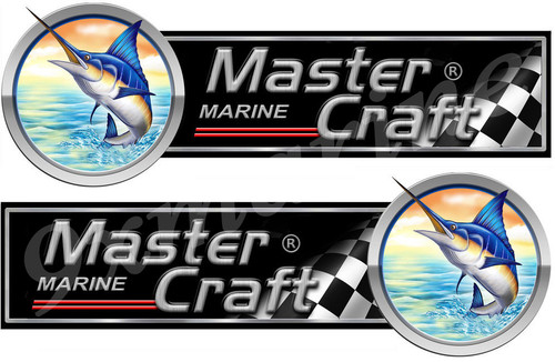 Two Master Craft Marlin Type Stickers. Left/Right