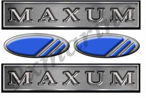 Maxum Long 10 Inch Sticker Set - Remastered