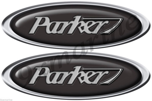 Two Parker Oval Deisgner Boat Stickers Not OEM