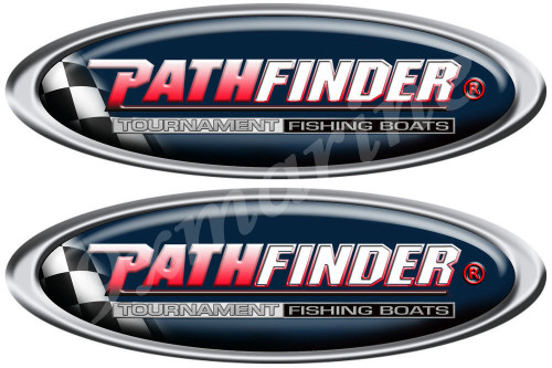 Two PathFinder Oval Stickers for Boat Restoration Project