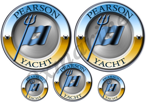 5 Pearson Designer Round Sticker Set - Generic