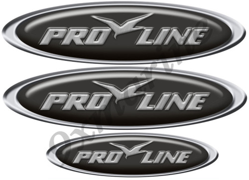 Pro line Custom Oval Stickers - 10 inch long set. Remastered
