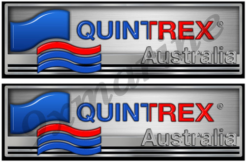"Two Quintrex Classic Stickers 10""X3"" each"