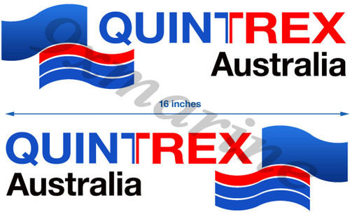 Two Quintrex Die-Cut Stickers 16 inch long each