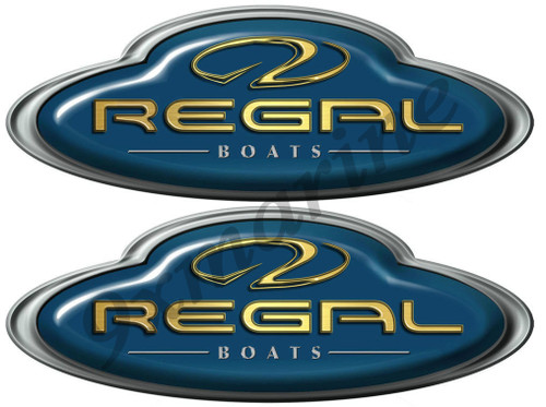 Regal Boat Oval Sticker Set