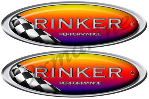 Rinker Racing Boat Oval Sticker Set