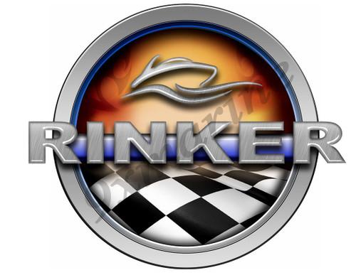 Rinker Racing Boat Round Sticker