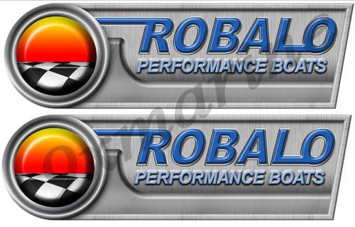 ROBALO Stickers. Remastered stickers for boat