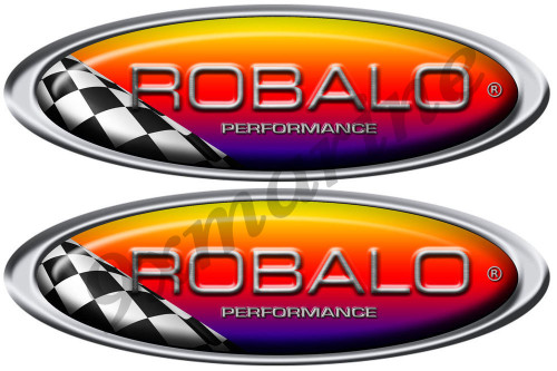 ROBALO racing stickers