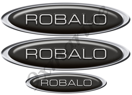 """ROBALO Classic 10"""" long Oval Black Sticker"""
