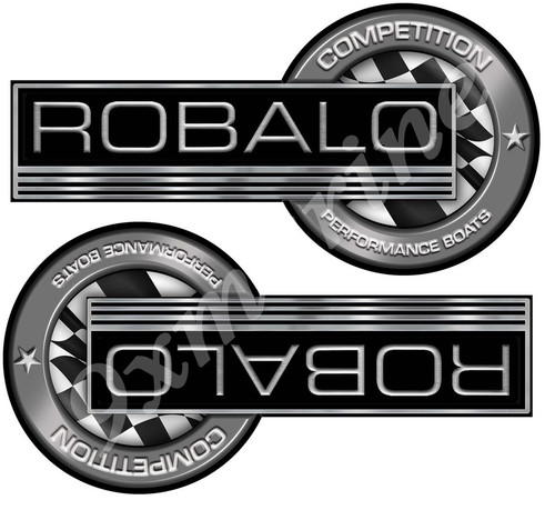 """ROBALO Classic Competition Stickers 7""""X3.5"""""""