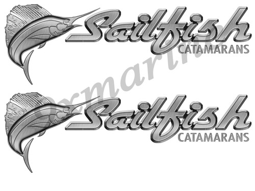 Two Sailfish Die-Cut stickers for boat restoration project. 16 inch long each