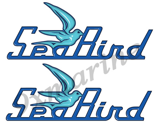 Two Sea Bird Stickers - 10 inch long set. Old Style Replica in vinyl