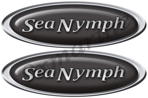 Sea Nymph Oval Sticker Set For Boat Restoration Project