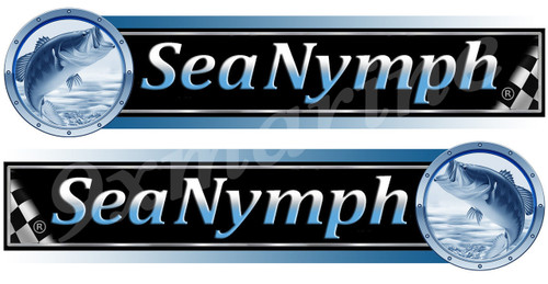 Sea Nymph Sticker Set For Boat Restoration Project. Die Cut