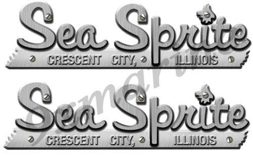 Two Sea Sprite Boat Remastered Stickers for boat restoration project