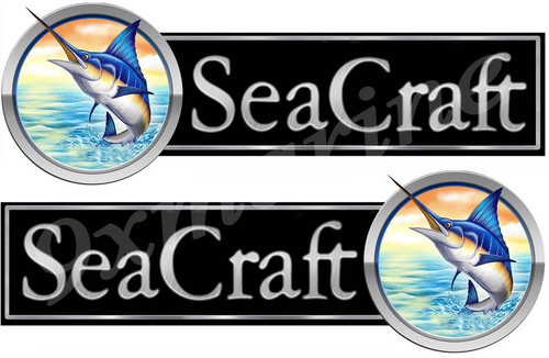 "Two Sea Craft Marlin-Type 10"" Stickers"
