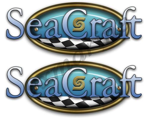 Two Sea Craft Retro Style Stickers