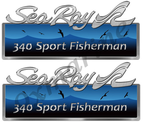 Sea Ray Custom Stickers. Remastered for boat restoration project