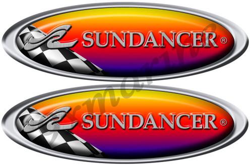 Sea Ray Sundancer Racing Sticker. Remastered