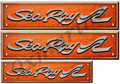 3 Sea Ray Interior Wood Style Stickers