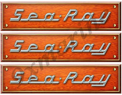 Sea Ray Wood Grain Interior Sticker Remastered for boat restoration project