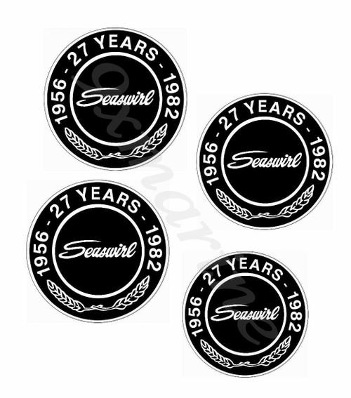4 Seaswirl steering wheel stickers plus one bonus sticker