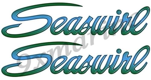 Two Seaswirl Die-Cut 16 Inch Stickers