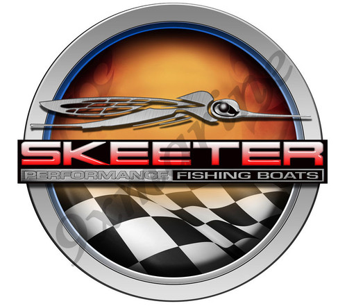 "Skeeter round sticker. Remastered 7""X 7"""