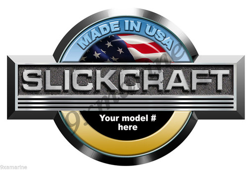 Single Slickcraft Round Sticker - Model number of your choice