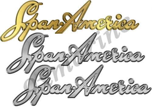 Span America Boat Sticker Set - Remastered