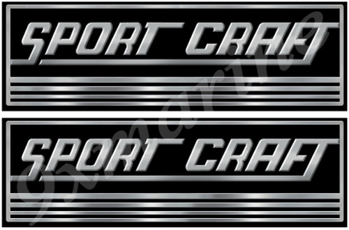 Two Sport Craft Vinyl Classic Stickers 10 Inches long each