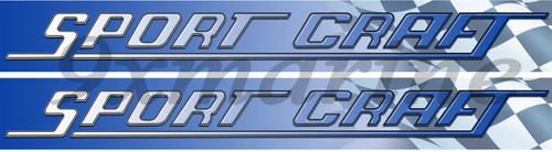 Two Sport Craft Vinyl Stickers 16 Inches long each Die Cut