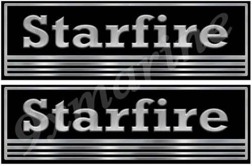 """Two Starfire 10""""X 3.5"""" Long Stickers. Remastered"""