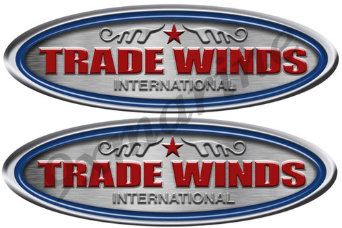 """Two Trade Winds Yacht 10"""" Stickers"""