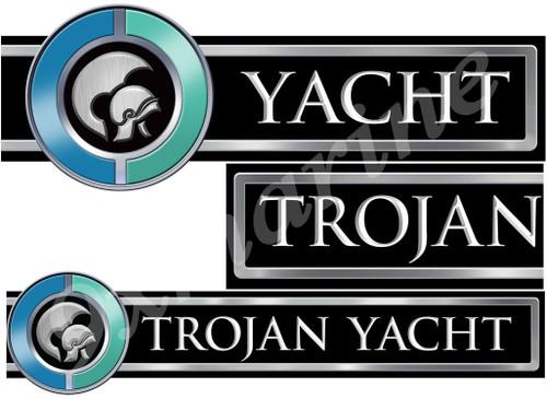 Trojan Boat Custom Stickers - 16 inch Long when combined