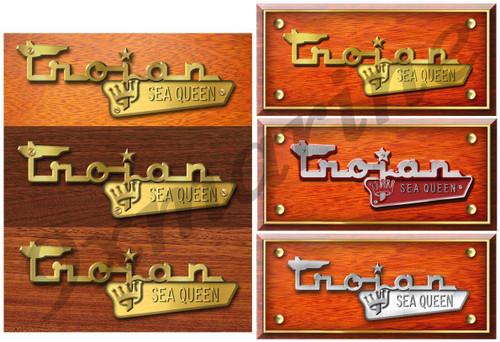 Trojan Boat Sticker Early 70s Cabin Cruisers