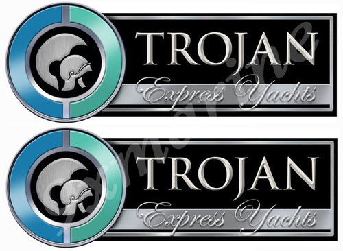 Two Trojan Boat Remastered Stickers - Generic