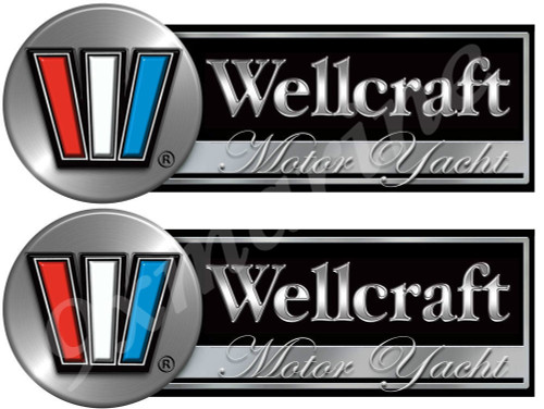 Two Wellcraft Boat Remastered Stickers for Restoration Project