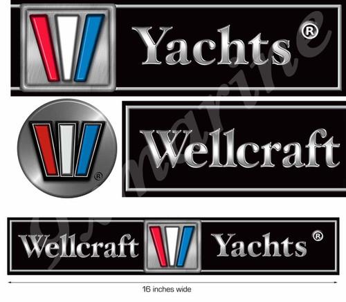 Wellcraft Boat Remastered Sticker Set for Restoration Project