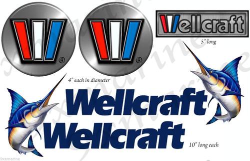 Wellcraft Boat Deluxe Sticker Restoration Set