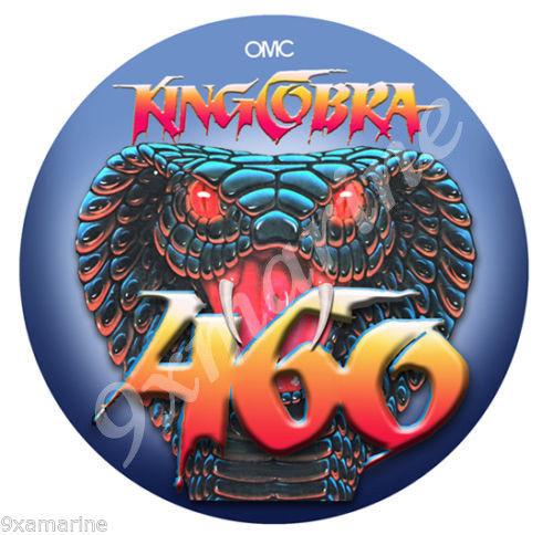 "OMC 460 King Cobra 7"" Sticker"