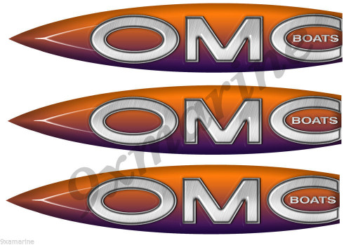 3 OMC Boats Stickers