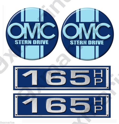 OMC Stringer Stern Drive Two Round Sticker Set