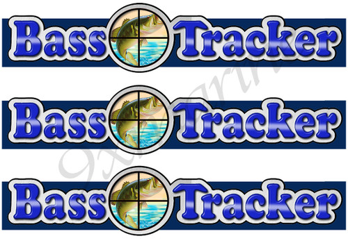 3 Bass Tracker Boat Stickers for boat restoration project